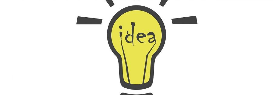 Image of a light bulb having an idea about cost reduction